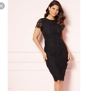 Black Romina Lace Dress, 8